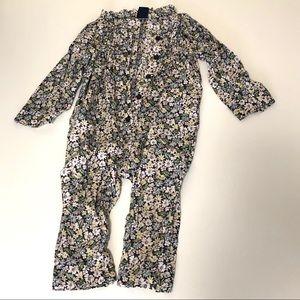 Gap Baby Floral Pleat Jumpsuit 18-24 months